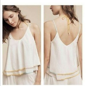 Anthropologie Tops - ANTHROPOLOGIE SATURDAY SUNDAY STRAPPY WHITE TOP